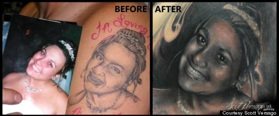 World's worst portrait tattoo' fixed by artist scott versago at