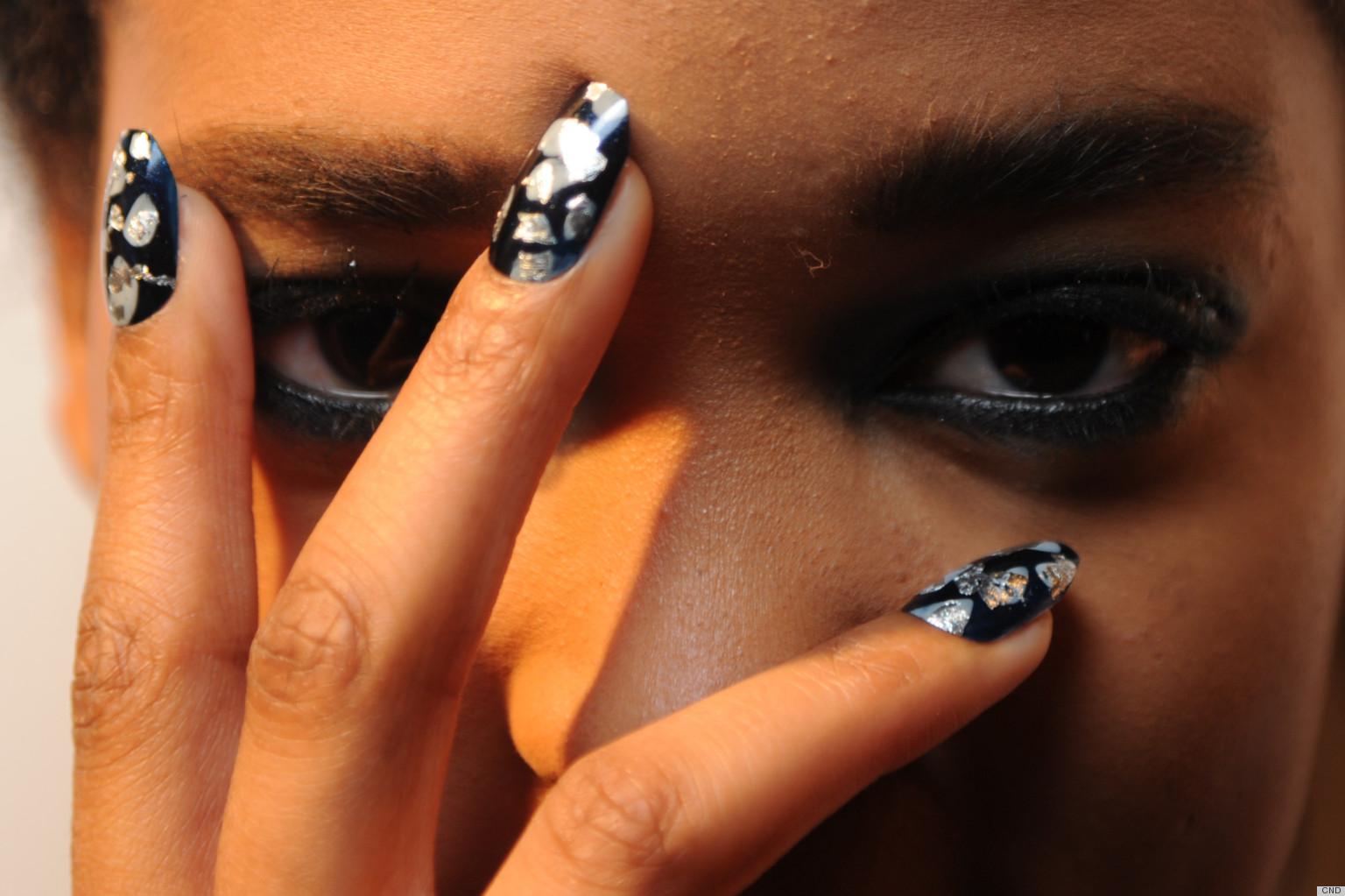 Tarnished Metallic Manicures At Michael Van Der Ham S Fall