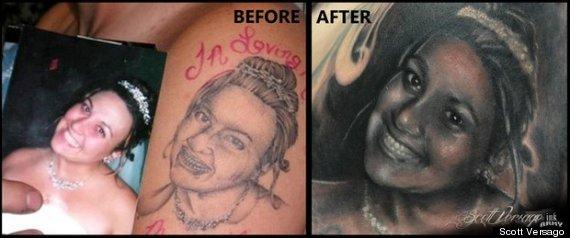 arreglar un tatuaje mal hecho