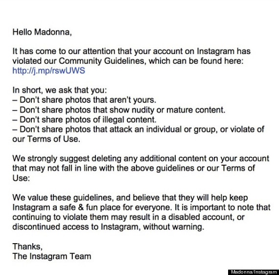 madonna instagram account