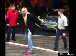 WATCH: Sword Swallower Pulls Car . . . With His Teeth