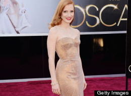 Oscars 2013: Jessica Brings The Old School Hollywood Glamour