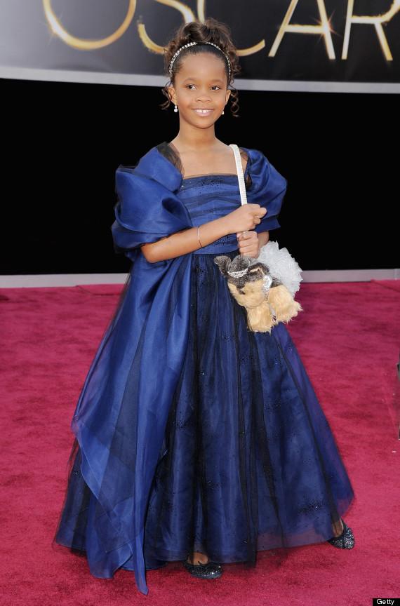 Quvenzhan 233 Wallis Oscar Dress 2013 Actress Looks Adorable