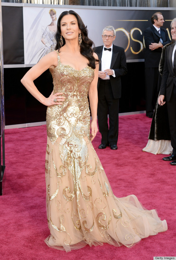catherine zetajones oscar dress 2013