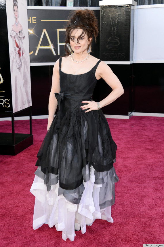 helena bonham carter oscar dress 2013