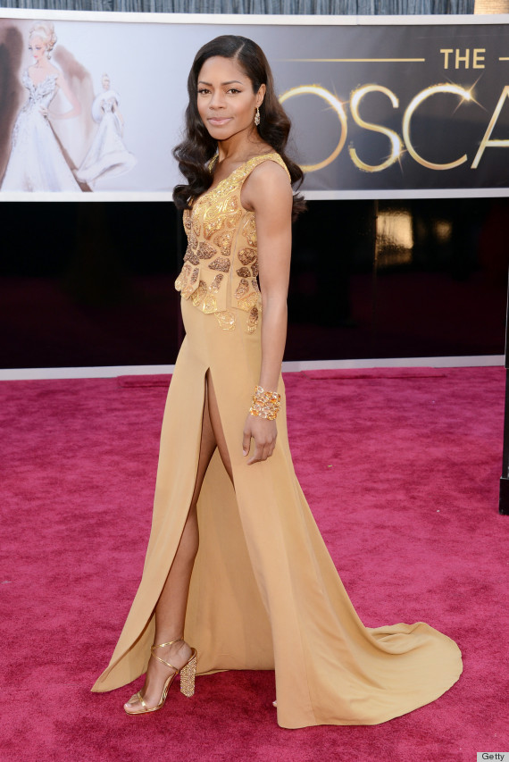 naomie harris oscar dress 2013