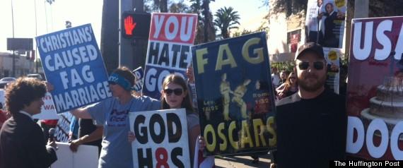 Anti Gay Protest Oscars 43