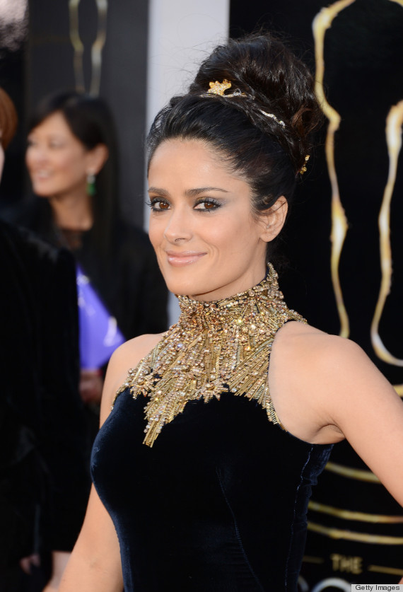 salma hayek oscar dress 2013