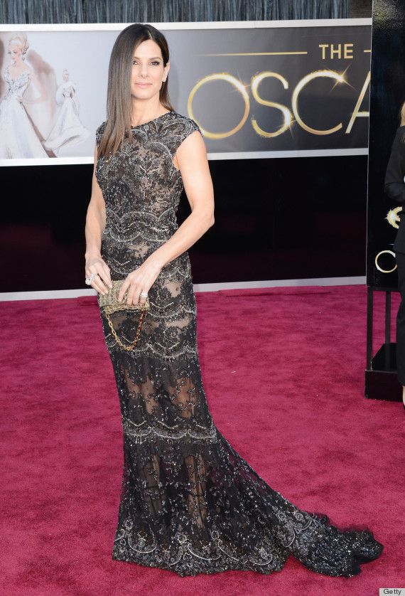 Sandra bullock 39 s oscar dress 2013 see the star 39 s red carpet look photos huffpost - Red carpet oscar dresses ...