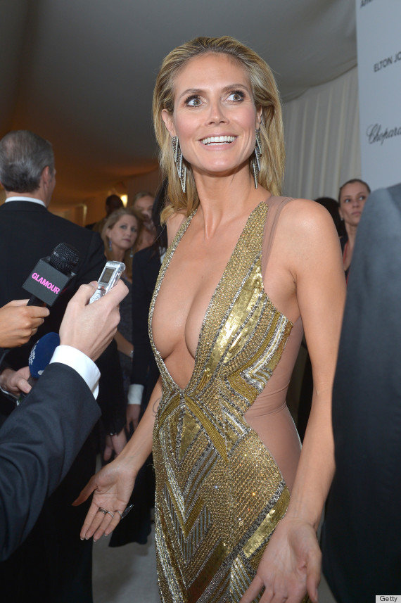 Heidi Klums Cleavage At Oscars Viewing Party Is Jaw
