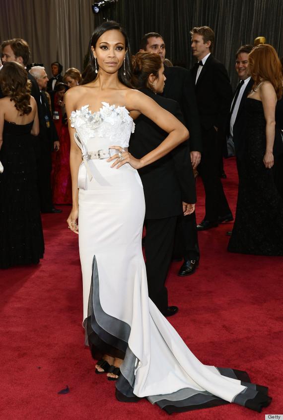 zoe saldana oscar dress 2013
