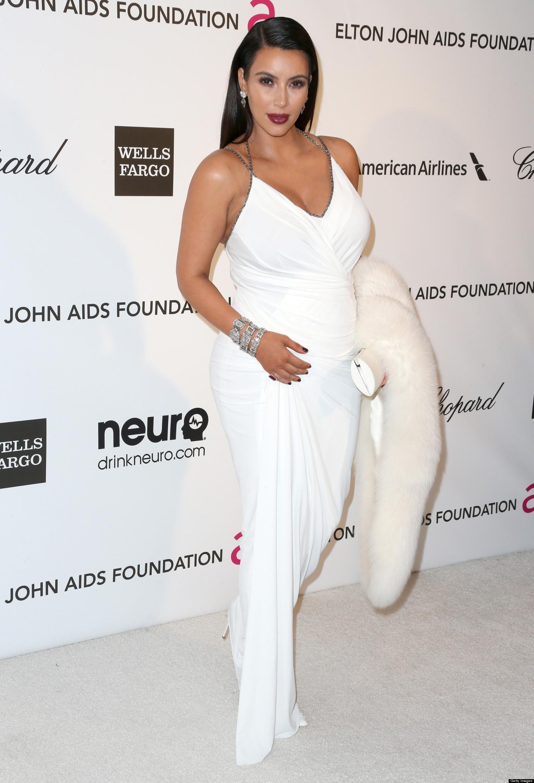 Kim Kardashian Oscars Baby Bump: Reality Star Shows Off ...