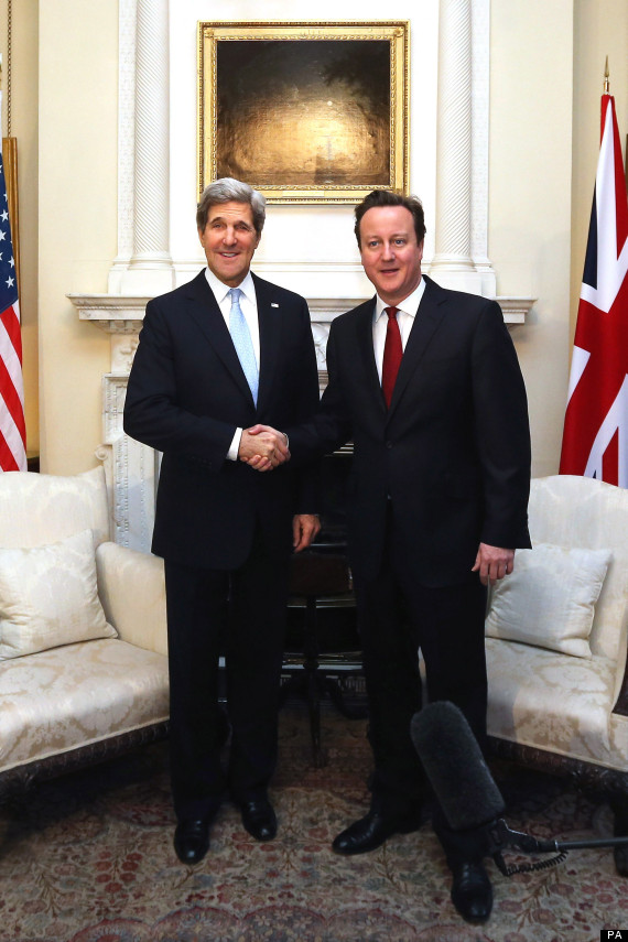 david cameron and john kerry