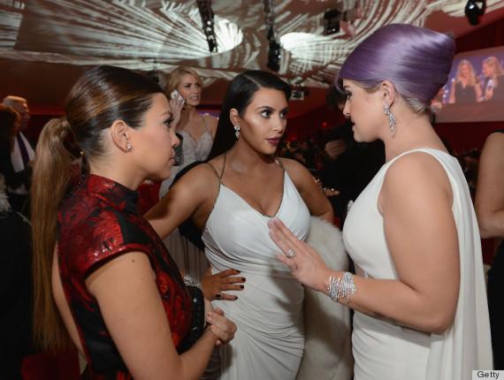 kim kardashian elton johns oscars party