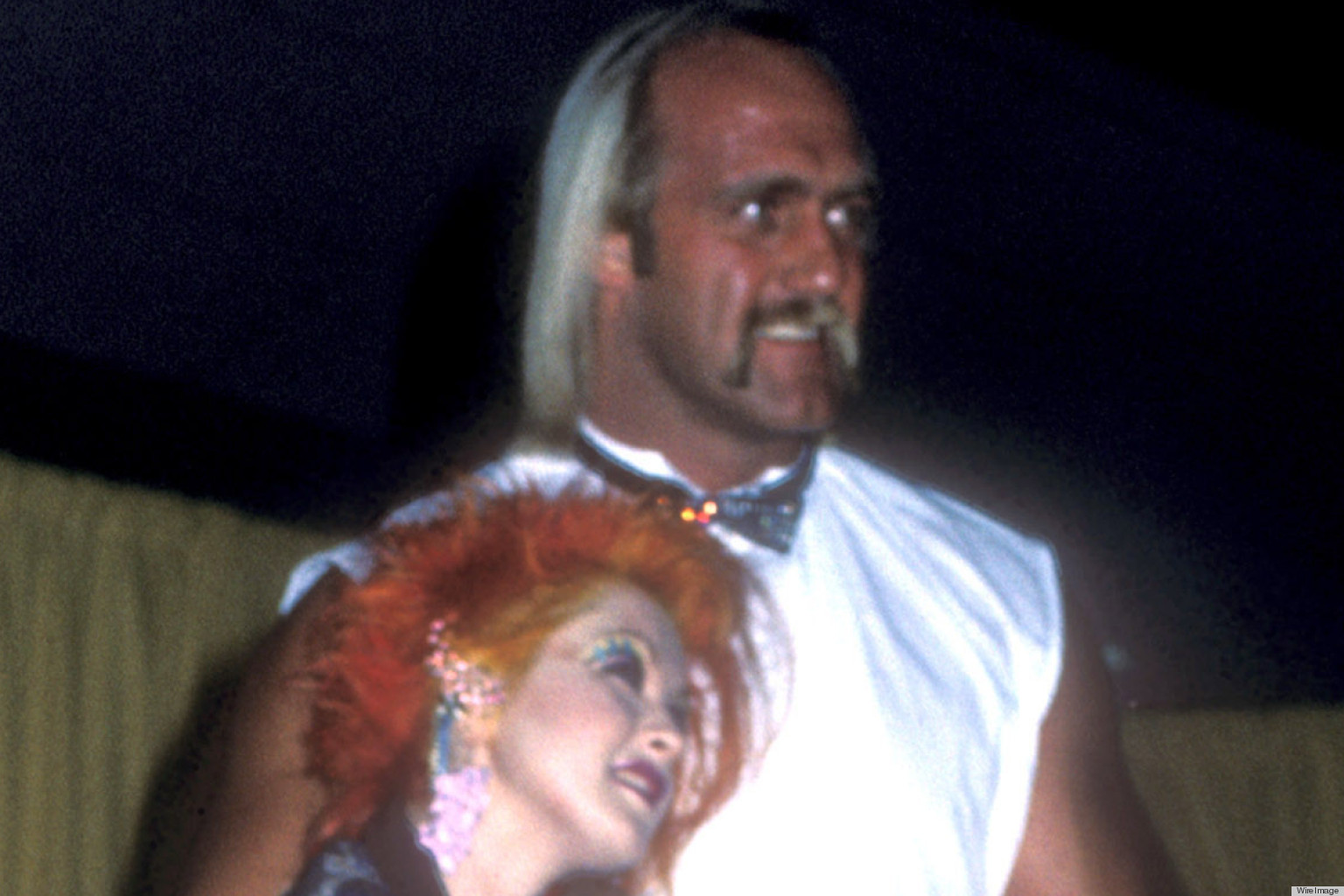 hulk hogan and cyndi lauper are an unlikely pair at the