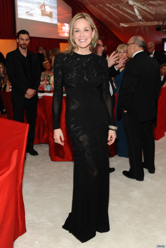 sharon stones oscars after party dress
