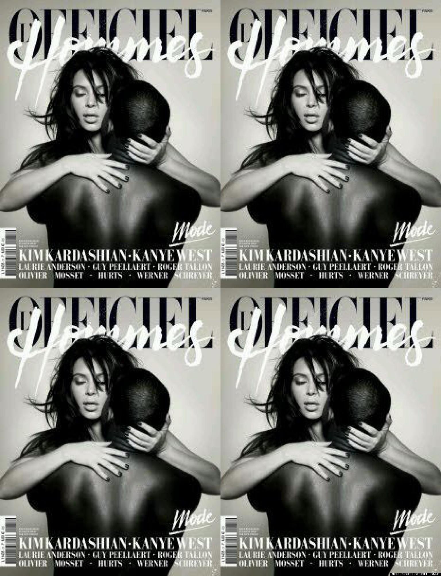 Kim Kardashian & Kanye West's Racy Nude Magazine Cover