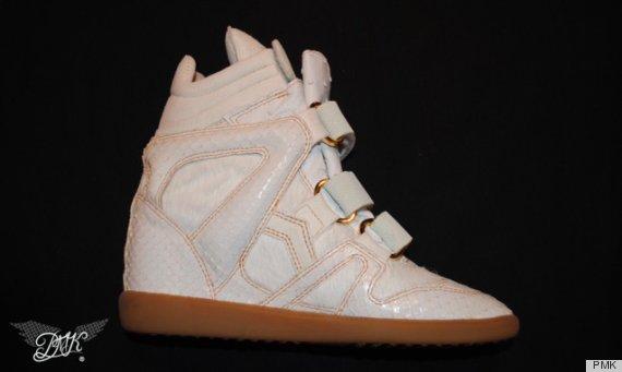 beyonce wedge sneakers