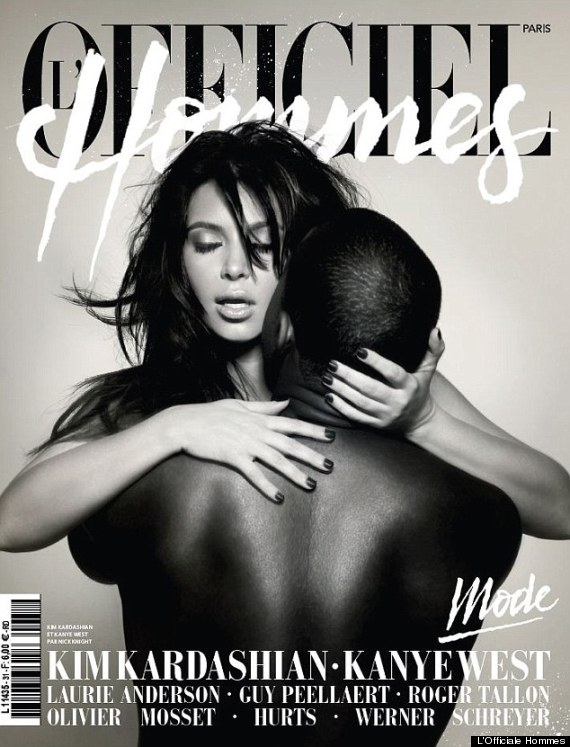 kim kardashian kanye west naked magazine cover