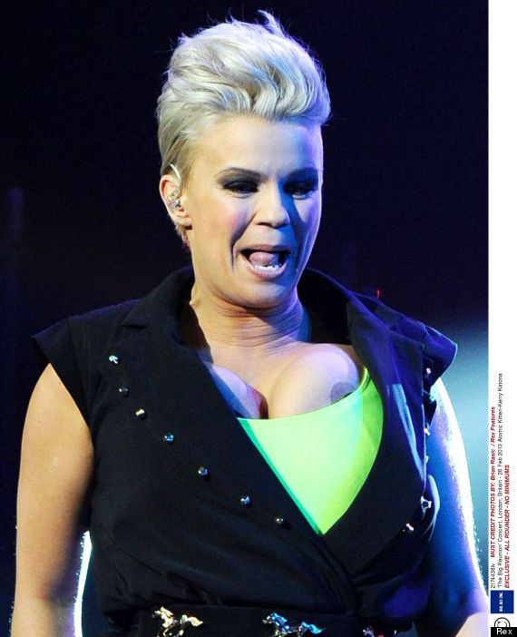 Kerry Katona Suffers Nip Slip As Atomic Kitten Make Comeback At 'Big