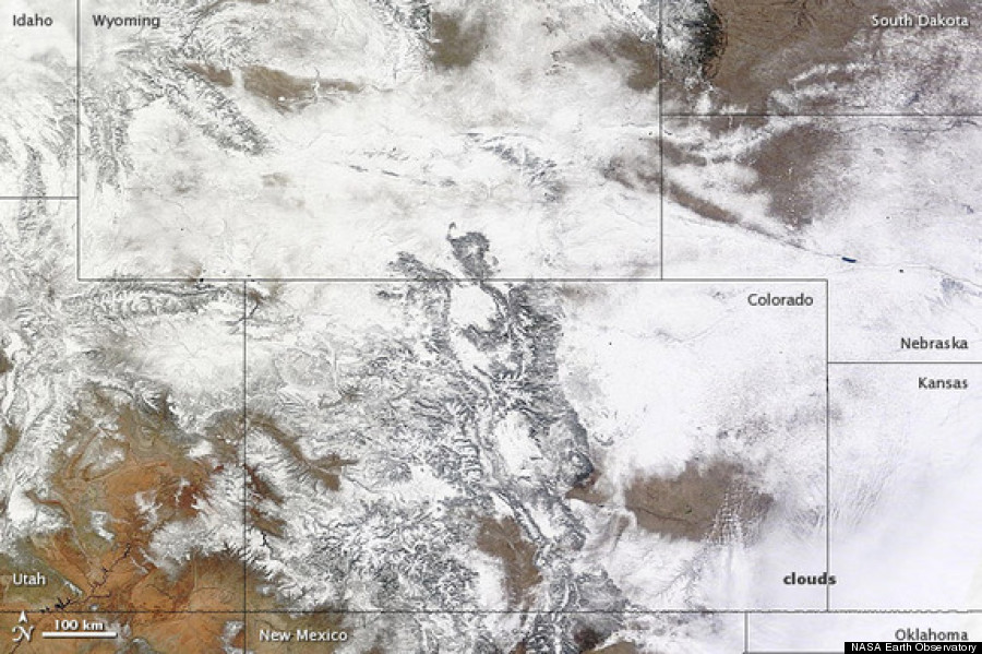 snow seen from space