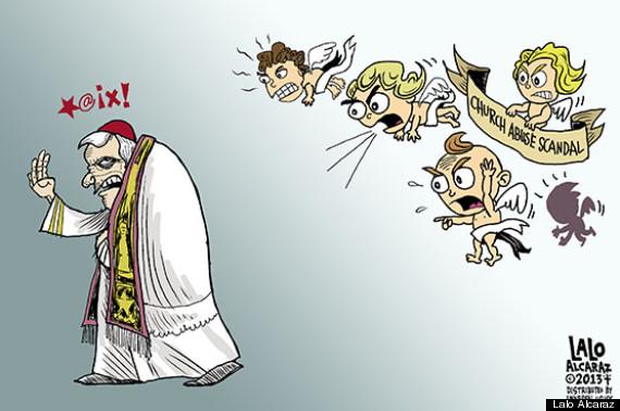 pope quits lalo alcaraz