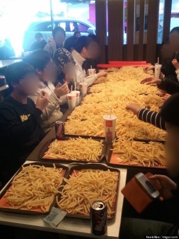 mcdonalds french fry party