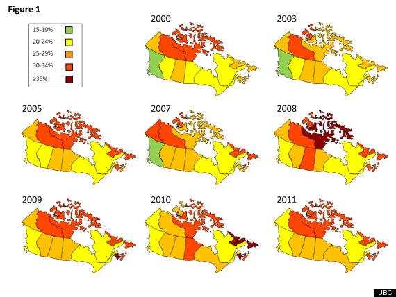 Canadas Obesity Rates At Historic High Study - Us obesity map 2015