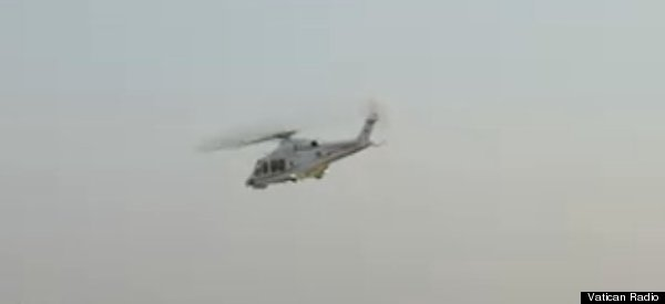 WATCH: Pope Benedict Leaves Vatican In Helicopter