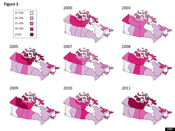 Canadas Obesity Rates At Historic High Study - Map of obesity us