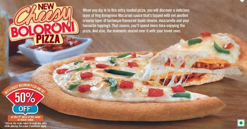 cheesy boloroni pizza