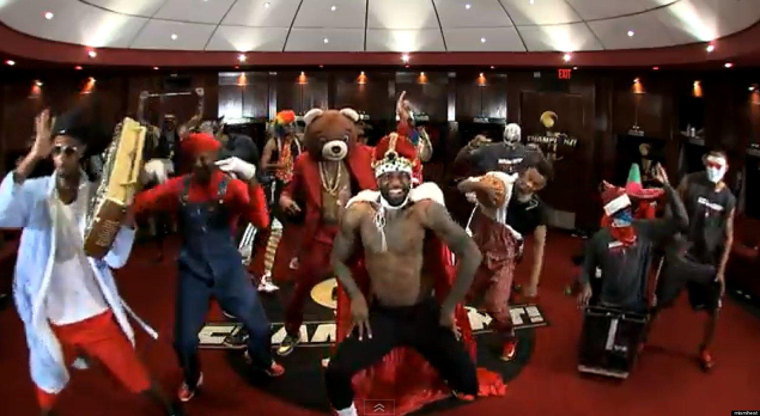 Heat Harlem Shake: LeBron James, Birdman Make Harlem Shake ...