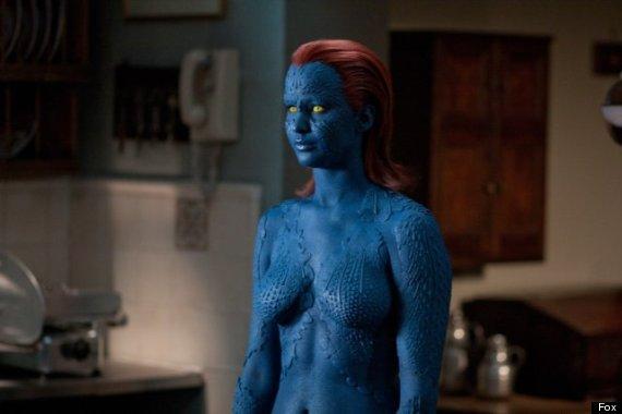 jennifer lawrence mystique & Jennifer Lawrence: Mystique Body Paint Replaced By Costume For u0027X ...
