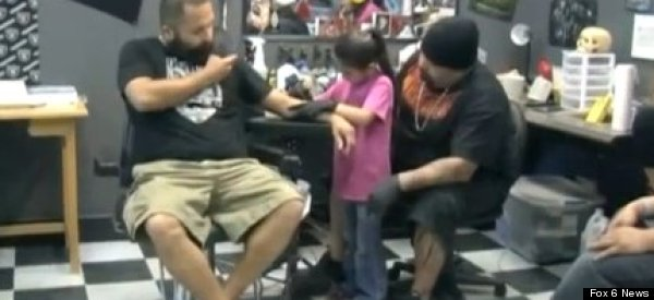 7 Year-Old Tattoo Artist 'Just Like My Daddy'