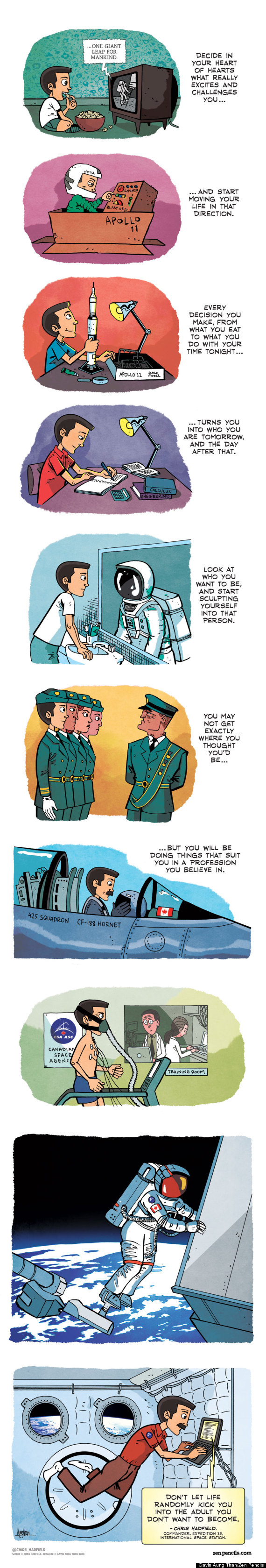 chris hadfield zen pencils