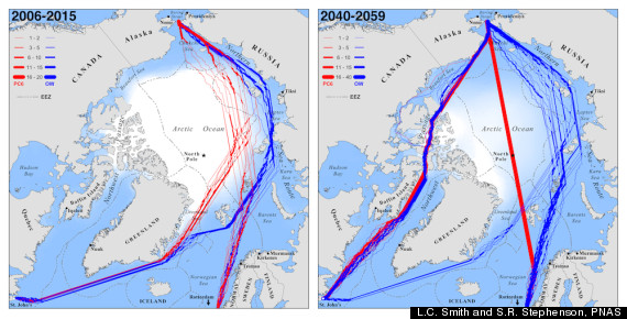 trans arctic shipping routes