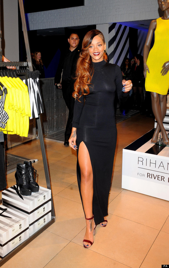Rihanna river island clothing range singer launches debut collection