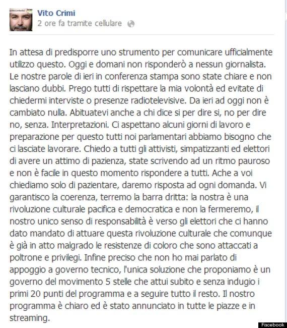 crimi post facebook