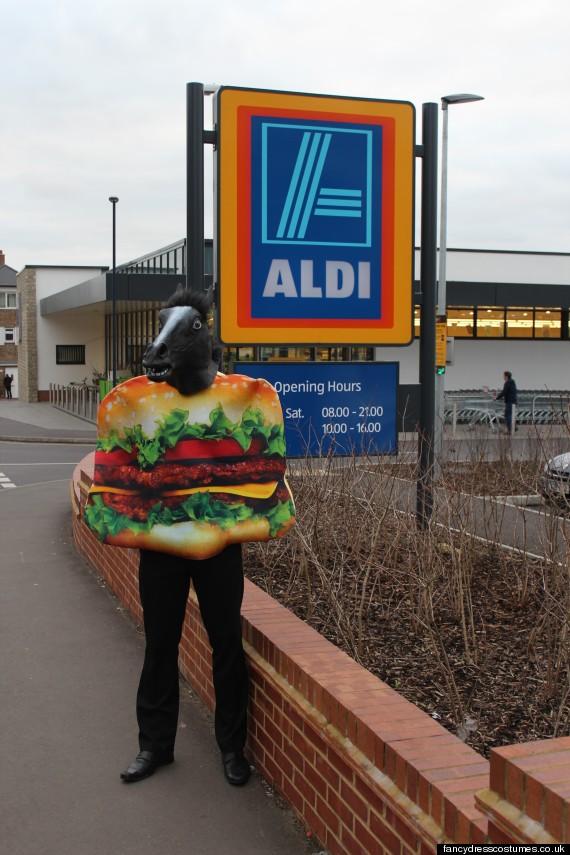 horse burger costume