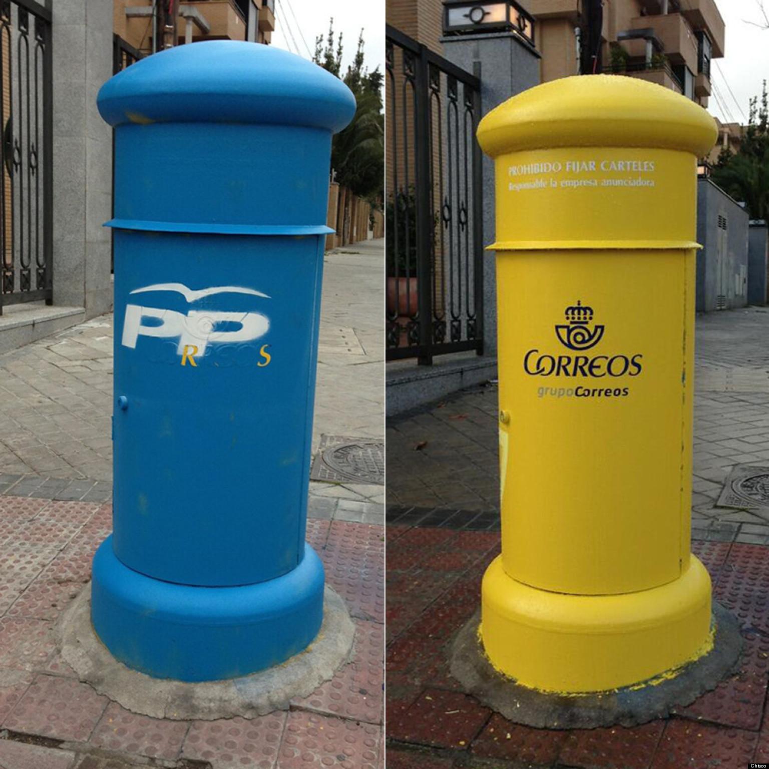 Correos repinta en menos de 24 horas los tres buzones de - Buzones de correos madrid ...