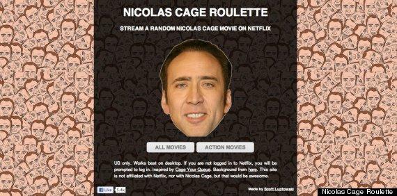 nicolas cage roulette netflix
