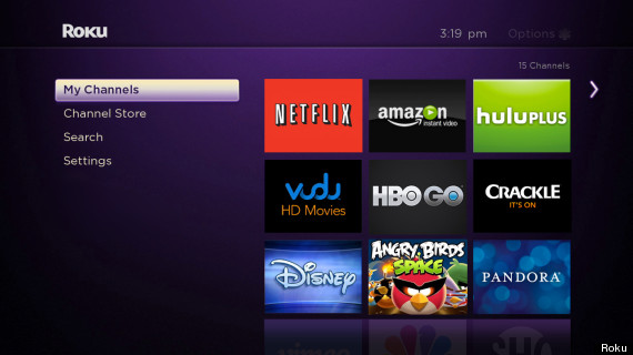 roku channels software