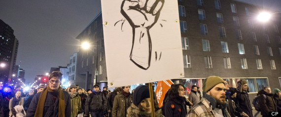 QUEBEC STUDENT PROTESTS MONTREAL