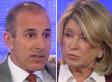 Matt Lauer Grills Martha Stewart On Macy's Lawsuit