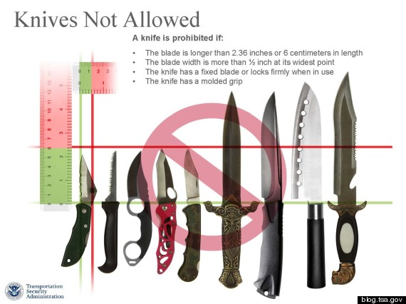 knives allowed on planes