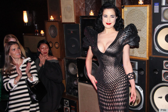 dita von teese 3d dress