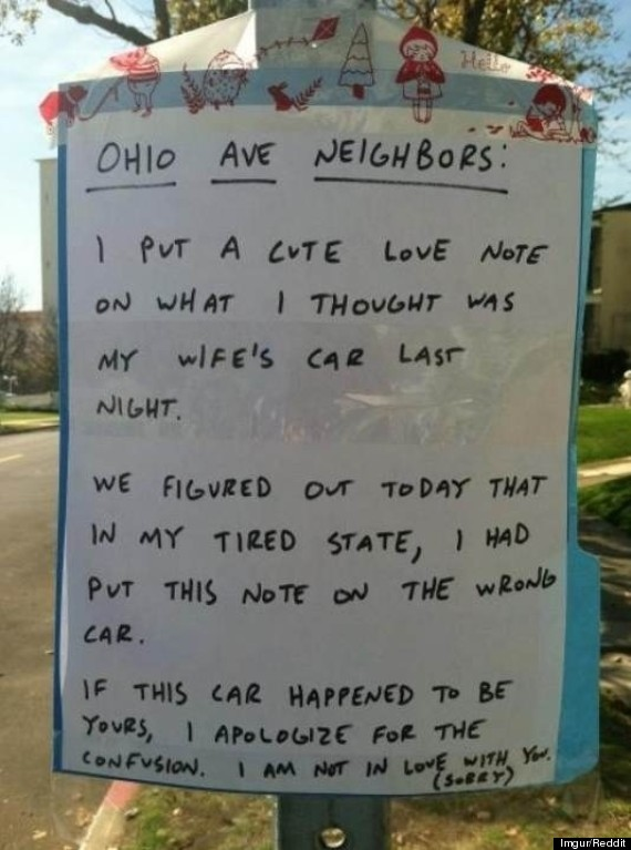 neighbor love note