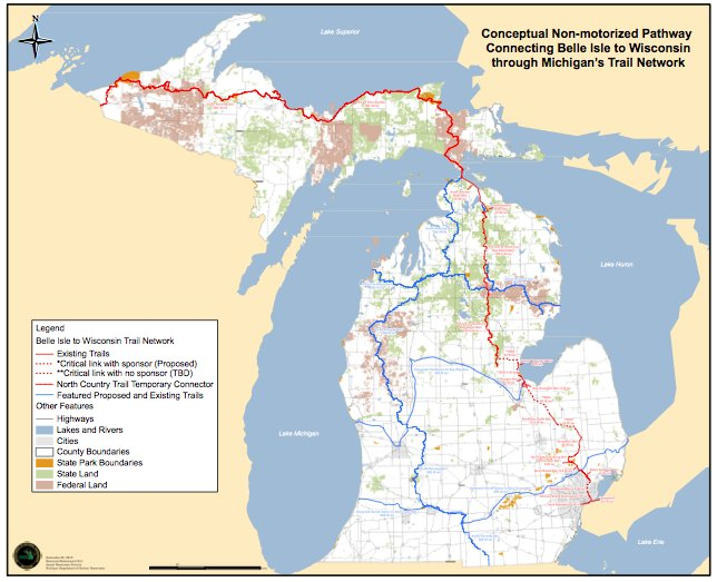 Bike Michigan Maps michigan wisconsin trail