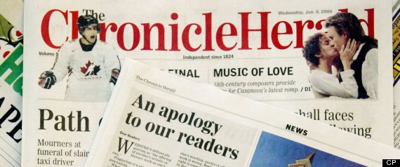 Chronicle Herald http://www.huffingtonpost.ca/2013/03/07/chronicle-herald-sunday-paper-scrapped-halifax_n_2832336.html