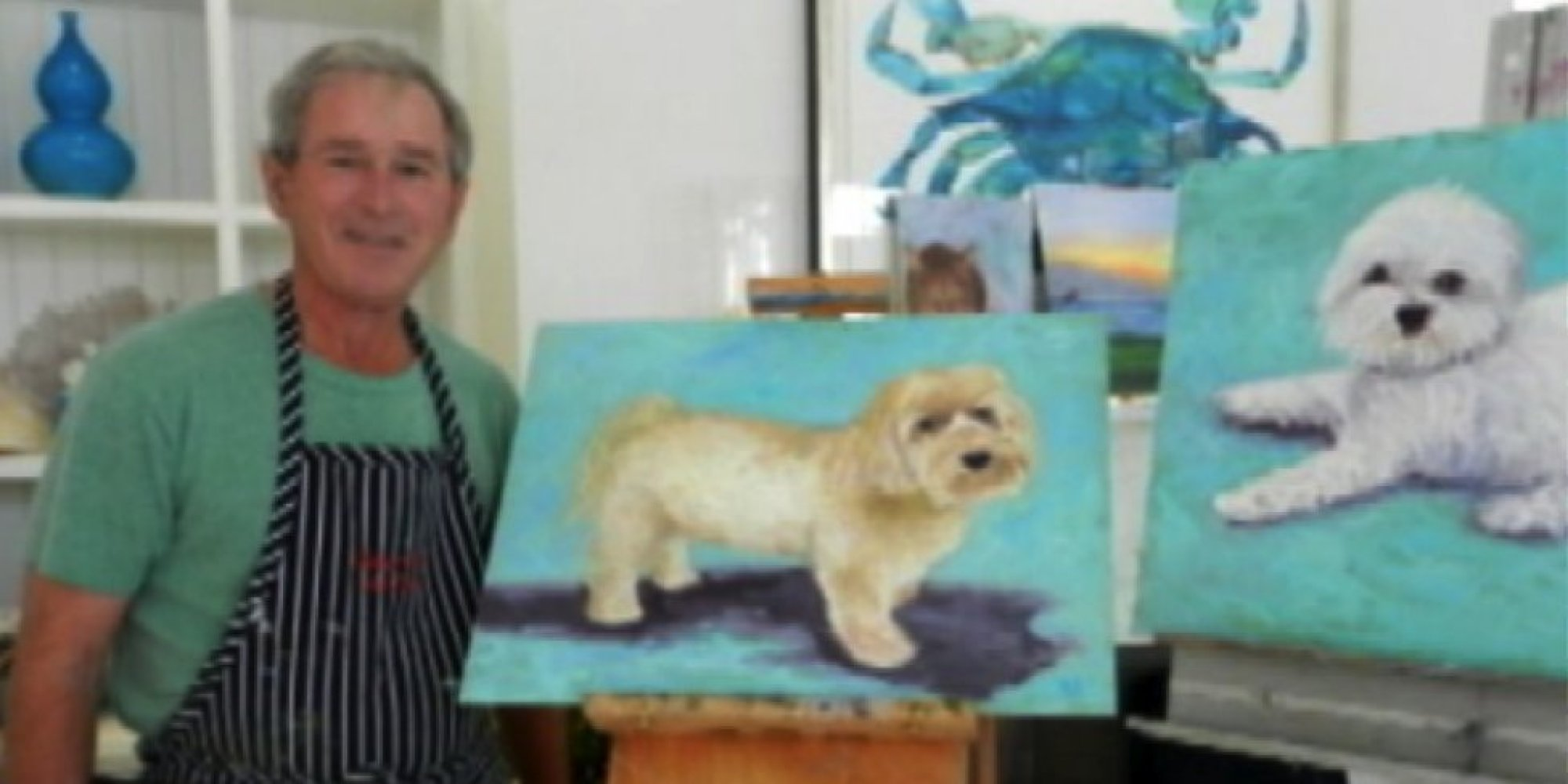 Image result for george bush painting